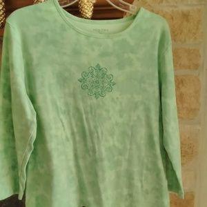 3/4 Sleeve Embellished Tee-XL